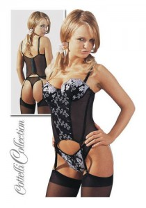 Black Basque Set